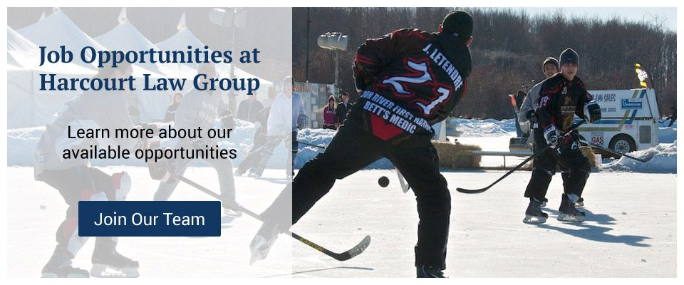 Job Opportunities at Harcourt Law Group - playing on hockey rink